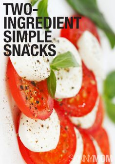 Only two ingredients are in these snack ideas. Check them out!
