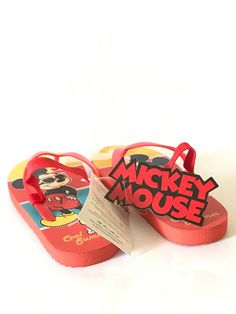 A light weight Mickey Mouse Sandals with flexible rubber for all day use. Flip Flop Sandals, Flip Flops, Shoes Sandals, Clog Slippers, Summer Kids, Family Travel, Clogs, Mickey Mouse, Baby Shoes