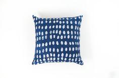 Indigo Batik Pillow Cover by CasaRosaShop on Etsy