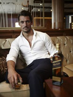 David Gandy Enjoys Some Johnnie Walker - july 17, 2013