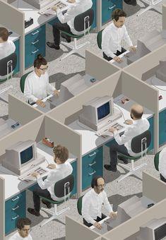 Sims-Like Digital Illustrations – Fubiz Media