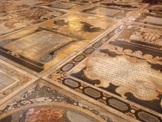 Floor/tomb details of St. John's Co-Cathedral in Valetta, Malta.  Mind blown