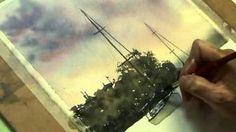 Joe Cartwright - Watercolour Painting shoal Bay Sunset- Part 4