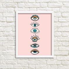 eye print eye illustration print minimal home decor print nordic style blush pink eye drawing Eye Art, Eye Drawing, Modern Art, Eye Illustration, Art Drawings, Drawings, Eye Print, Pop Art, Illustration Print