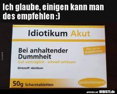 Ich glaube, einigen kann man des empfehlen :) | Lustige Bilder, Sprüche, Witze, echt lustig Funny Quotes, Funny Memes, Jokes, Mind Thoughts, Good Humor, Satire, In My Feelings, Picture Quotes, Funny Pictures