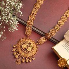 Gold Jewellery Design, Gold Jewelry, Gold Haram Designs, Necklace Set, Gold Necklace, Necklace Online, Set Design, Indian Bridal