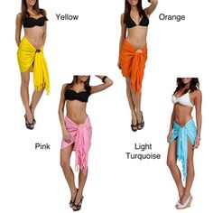 @Overstock - Add a stylish touch to your wardrobe with this veratile sarong from Indonesia. A lightweight rayon with a frige design completes this sarong.   http://www.overstock.com/Worldstock-Fair-Trade/Womens-Solid-Mini-Sarong-Indonesia/4155321/product.html?CID=214117 $10.21