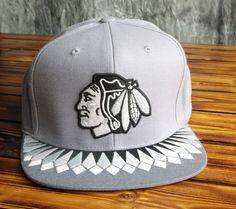 01ba46df2bc Chicago Blackhawks Mitchell   Ness Grey Variant Snapback Hat