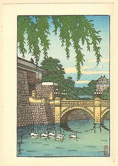 Swans at nijyubashi Bridge