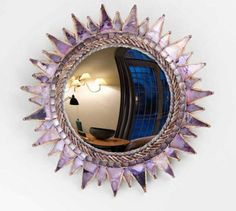 "Another Line Vautrin sunburst mirror, this from about 1950. It's called ""Soleil à Pointes"" (Spikey Sun)."