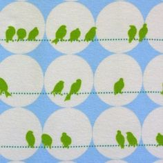 Image of Blomma birds organic cotton jersey (by the half metre)