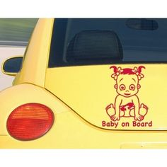 Style and Apply Baby On Board Girl Car Decal Vinyl Wall Art Home Decor (Light blue 16in x 20in) (Lead)