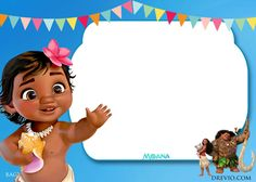cool free printable little moana birthday and baby shower invitation