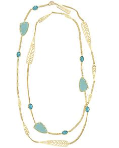 Marla Long Necklace in Bright Blue Spring - Kendra Scott Jewelry