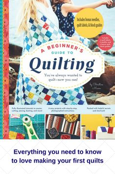 A Beginner's Guide to Quilting Quilting For Beginners, Quilting Tips, Quilting Tutorials, Cute Quilts, Easy Quilts, Drop Everything And Read, History Of Quilting, Sewing Labels, Origami