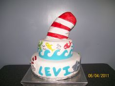 Dr. Seuss cake for my grandson's first birthday