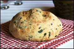 Greek Olive Oil Bread with Olives and Rosemary