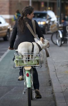 She can be urban, but ride a bicycle through the city, embracing the natural way