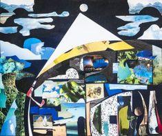 Segel über der Bucht - (c) Elisabeth Rütsche Collagen, Painting Art