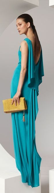 Escada ~ blue evening gown - classic and timeless style!