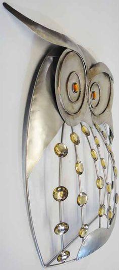 Metal Wall Art - Jewel Owl | Metal Wall Art | Contemporary Metal ...