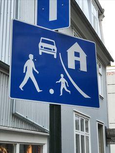 Street sign in Reykjavik City Centre