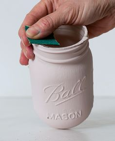 How To Paint and Distress Mason Jars