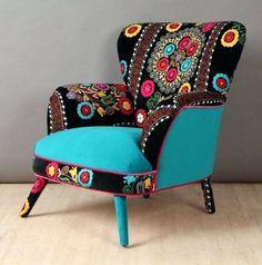 Art deco furniture makeover home decor 30 ideas Art Deco Furniture, Funky Furniture, Unique Furniture, Furniture Makeover, Painted Furniture, Chair Makeover, Vintage Furniture, Funky Chairs, Cool Chairs