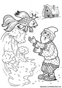 coloring pages for The Tale of the Fisherman and the Fish Free Coloring pages online print.