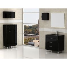 Eviva Geminis 28-inch Modern Bathroom Vanity with White Integrated Porcelain Sink