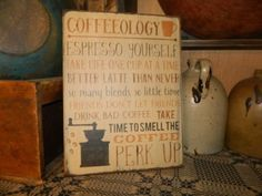 PRIMITIVE-WOOD-SIGN-COFFEEOLOGY-COFFEE-KITCHEN-SIGN-PERK-UP-ESPRESSO-LATTE