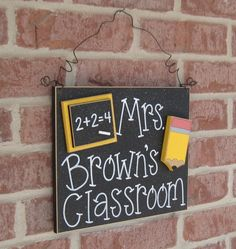 Custom Teacher Personalized Name or Word Sign for children, home, desk, shelf, decor. $24.50, via Etsy.