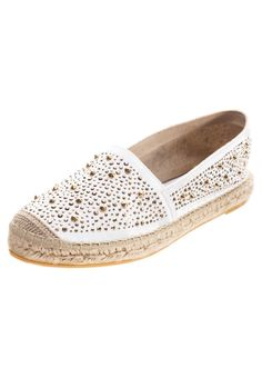 Oh yes. White satin studded espadrilles