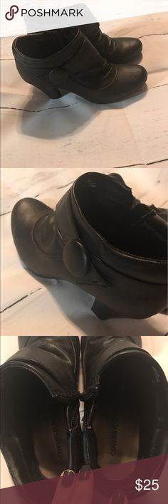 Black ankle booties like new Like new used a handful of times bought this year Covington heels 👠 Covington Shoes Ankle Boots & Booties