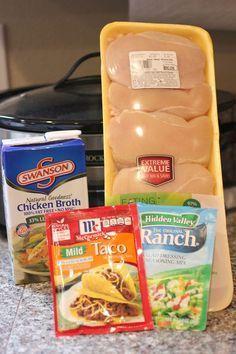 Repeat Crafter Me: Crock Pot Ranch Chicken Tacos
