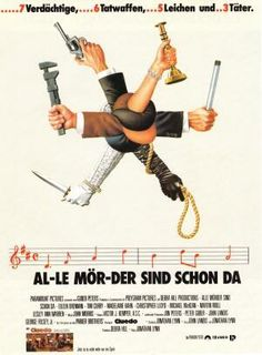 German poster for Clue, 1985