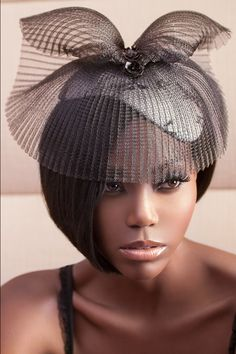 """Z MALAN """"CATWALK"""" fascinator. Handmade with Silk, Chantilly lace, Crin, Sequence, velvet lined. For wedding, bridal, and special occasions  www.zmalan.com"""
