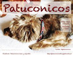 collar de perro Patuconicos hecho a mano con nudos de macramé en España.