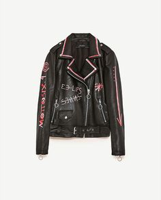Image 8 of PAINTED JACKET from Zara