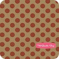 Historical Blenders Red on Tan Reproduction Dots Yardage SKU# 46165-28