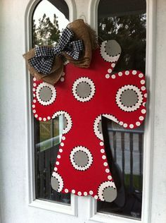 Alabama Cross Door Hanger by GinnyLinnyArt on Etsy