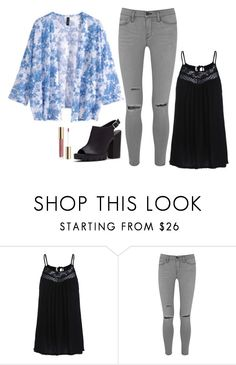 """""""Maya Hart Inspired Outfit"""" by daniellakresovic ❤ liked on Polyvore featuring Frame Denim, H&M, women's clothing, women, female, woman, misses and juniors"""