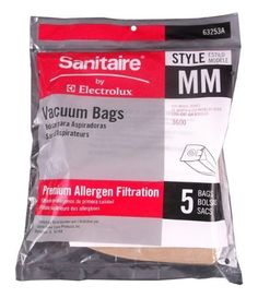 1 Case 16 pkgs Airway Sanitizor Vacuum Bags canister A 144 66 77 88 Sani