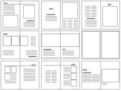 Grid structures are the layout look of where the image and body copy will be placed on what is being created. They are very important because they breakup the layout of the design so you can imaging the way you want your design to be. Graphic Design Layouts, Book Design Layout, Print Layout, Design Posters, Design Editorial, Editorial Layout, Graphisches Design, Grid Design, Design Ideas