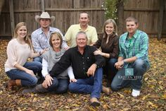 Great pose for a large family with adult children/spouses.  #Kristen Vest Photography