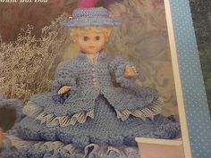 Audrey-Bed-or-Pillow-Doll-Outfit-Leaflet-Fibre-Craft-FCM-409-Good-Shape