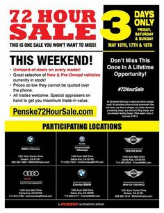 Don't forget to drop by tomorrow for our first #72HourSale day! We'll also be here Saturday and Sunday.   http://www.commonwealthvw.com/