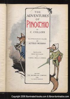 Pinocchio written by Carlo Collodi, illustration by Attilio Mussino