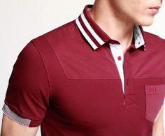 Polo Vest, Polo T Shirts, Polo Shirt Design, Men Street, Surf Wear, Shirt Style, Casual Shirts, Shirt Designs, Men Casual
