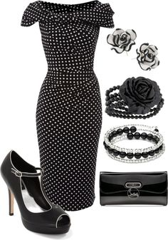 """black and white classic"" by meganpearl on Polyvore"